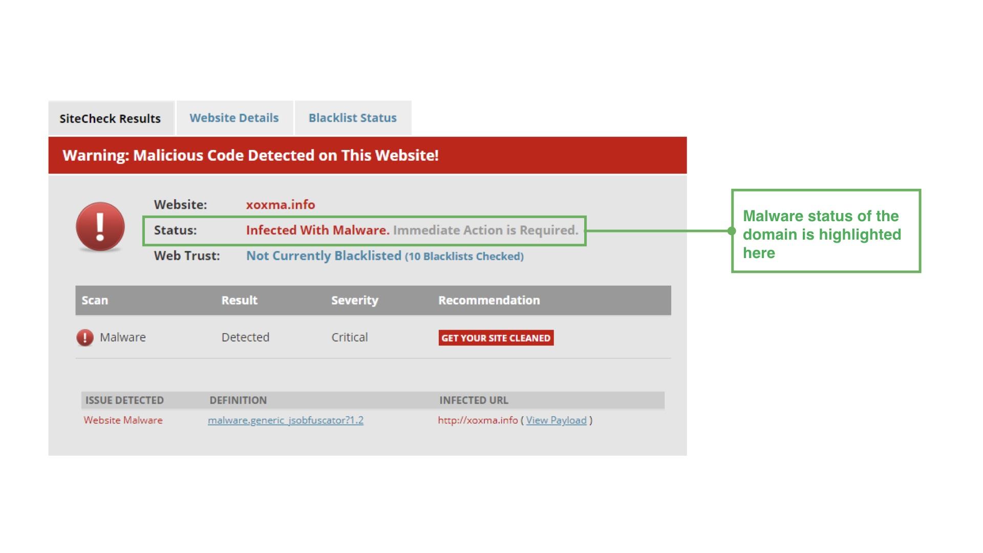 Malicious website analysis