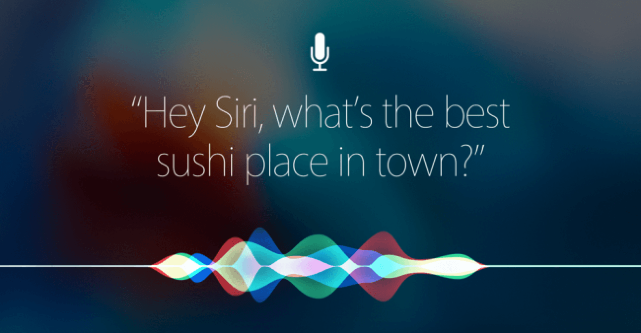 "iOS Siri text ""Hey Siri, what's the best sushi place in town?"""